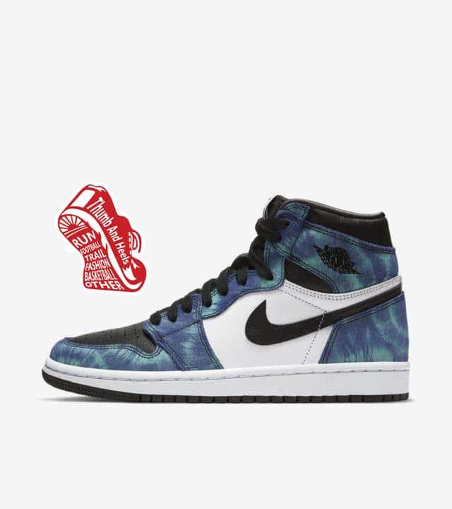 """""""Air Jordan 1 Mid Tie Dye (W)"""" รองเท้าสีมัดย้อมของผู้หญิง"""