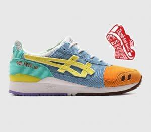 """Sean Wotherspoon x Atmos x ASICS Gel Lyte 3"" รองเท้าที่มีดีไซน์คู่สีแตกต่างกันทั้ง 2 ข้าง"